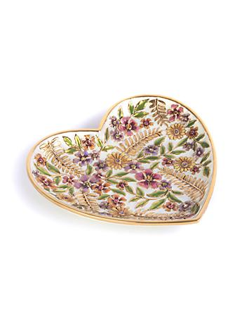 Aria Floral Heart Trinket Tray - Flora