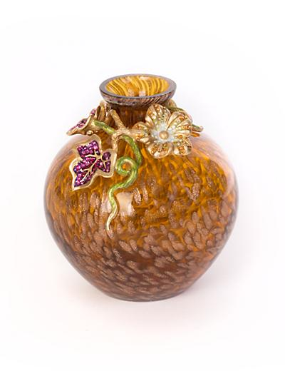 Cleo Leaf & Flower Mini Vase - Bouquet