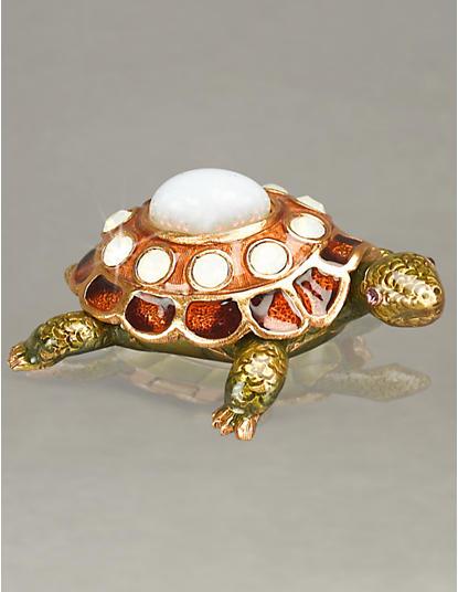 October Turtle Birthstone Box