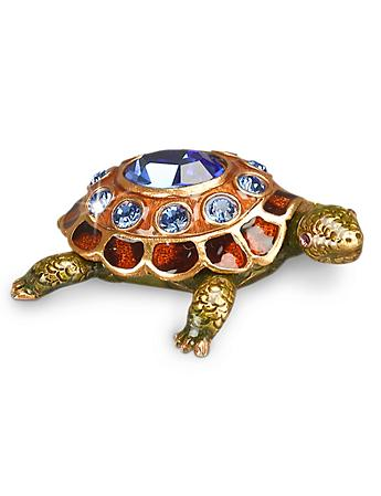 September Turtle Birthstone Box