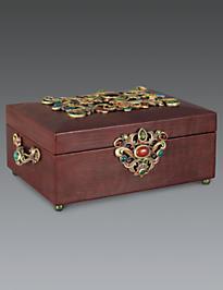 Gaspar Grand Leather Box - Spice