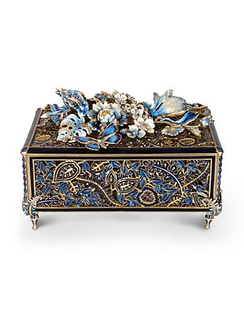 Genevieve Grand Floral Chest - Delft Garden