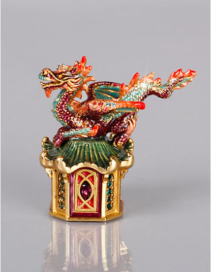Omar Dragon Pagoda Box - Chinoiserie