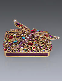 Fredrico Bejeweled Dragonfly Box - Siam
