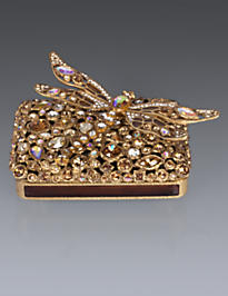 Fredrico Bejeweled Dragonfly Box - Golden
