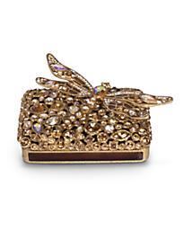Fredrico Bejeweled Dragonfly Box - Golden