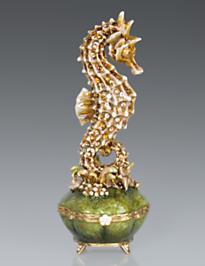 Elliott Seahorse Box - Golden