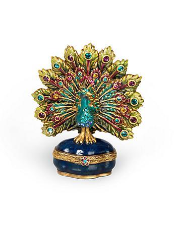 Spencer Parading Peacock Box - Peacock