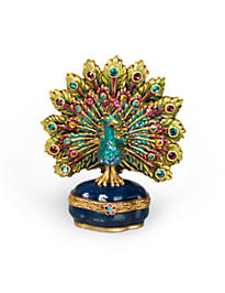 Spencer Parading Peacock Box - Peacock