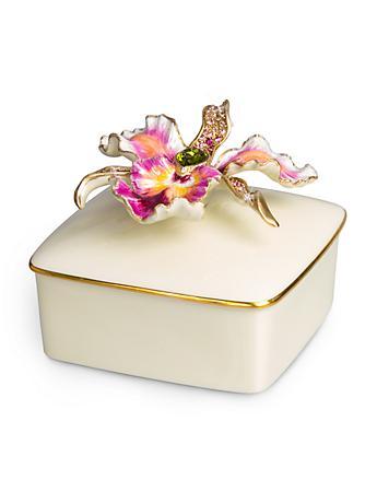 Oriana Orchid Porcelain Box - Flora
