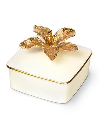 Eleanor Lily Porcelain Box - Gold