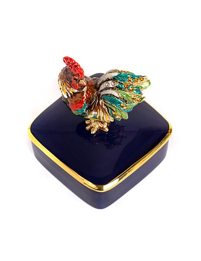 Chen Rooster Porcelain Box - Natural