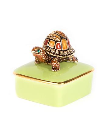 Caden Turtle Porcelain Box - Natural