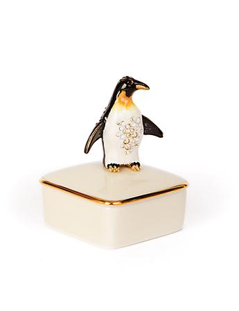 Octavio Penguin Porcelain Box - Natural