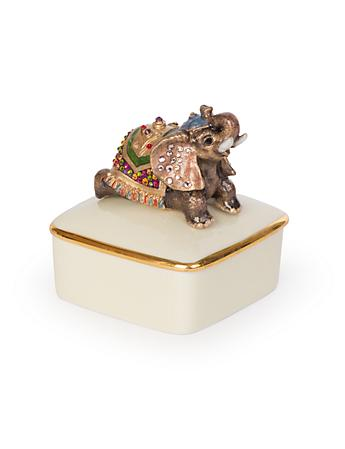 Priya Elephant Porcelain Box - Bouquet
