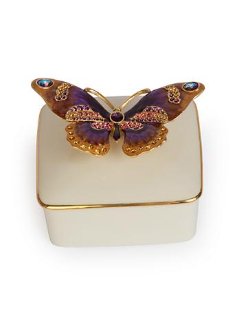 Lilliana Butterfly Porcelain Box  - Flora