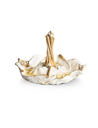 Scarlett Leaf Ring Dish - Golden