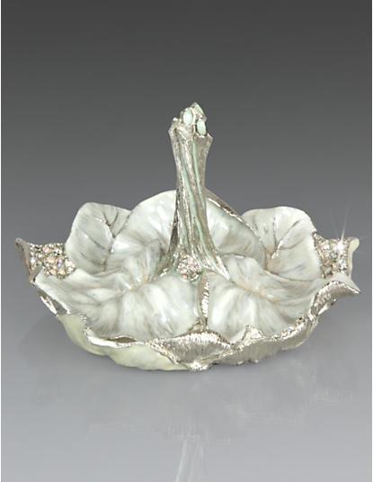 Scarlett Leaf Ring Dish - Crystal Pearl