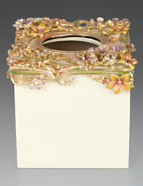 Hartley Floral Scroll Tissue Holder - Boudoir