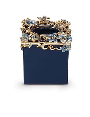 Hartley Floral Scroll Tissue Holder - Delft Garden