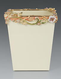 Devon Floral Scroll Wastebasket - Boudoir