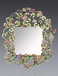 Corlander Floral Scroll Wall Mirror - Flora