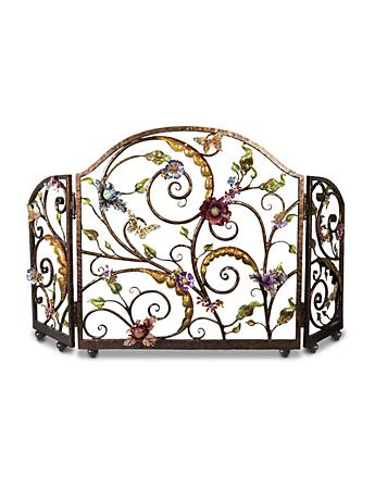 Vincente Flora & Fauna Fireplace Screen - Jewel