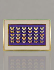 30-piece Butterfly Wall Objet - Violet
