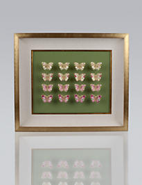 16-piece Butterfly Wall Objet - Rose Celadon