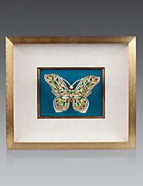 Single Butterfly Wall Objet - Turquoise