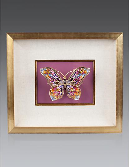 Single Butterfly Wall Objet - Azalea