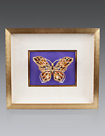 Single Butterfly Wall Objet - Violet