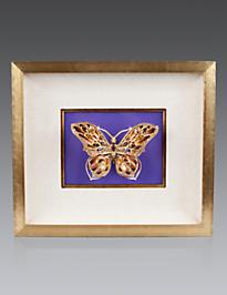 Single Butterfly Wall Objet - Violet