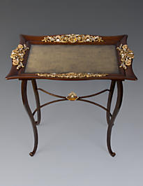 Miriam Arabesque Tray Table - Amber