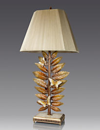 Timothy Butterfly & Leaf Lamp - Golden