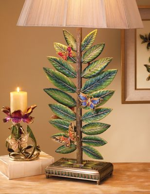 Timothy Butterfly & Leaf Lamp - Flora
