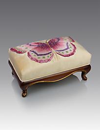 Eliza Butterfly Ottoman - Flora