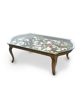 Everett Floral & Scroll Coffee Table - Jewel
