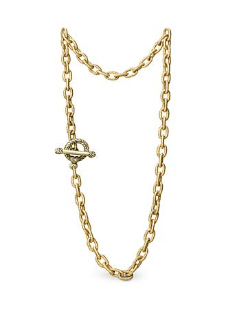 "Jeanne Toggle Necklace - 17"" - Gold"