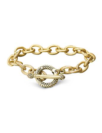 "Rhodes Toggle Bracelet - 7.5"" - Gold"