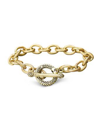 """Rhodes Toggle Bracelet - 8"""" - Gold"""