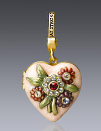 Miranda Heart Locket Charm - Flora