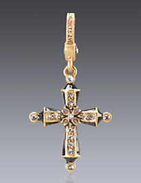 April Birthstone Cross Charm