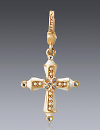 June Birthstone Cross Charm