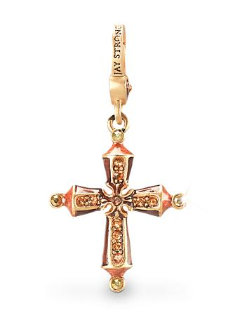 November Birthstone Cross Charm