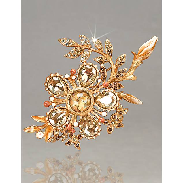 Kima Flower Brooch - Golden
