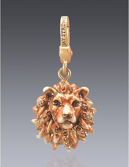 Bartholomew Lion Head Charm - Natural