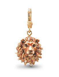 Bartholomew Lion Head Charm - Natural