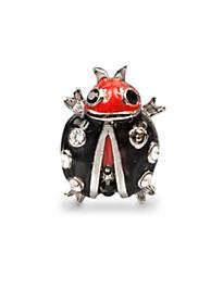 Caroline Ladybug Tack Pin - Black Onyx