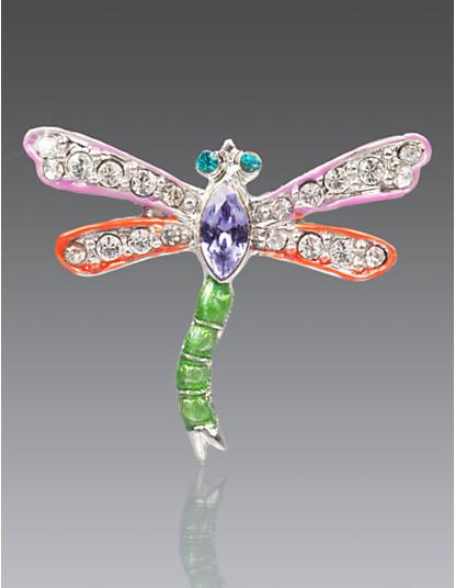 Emily Dragonfly Pin - Fuschia